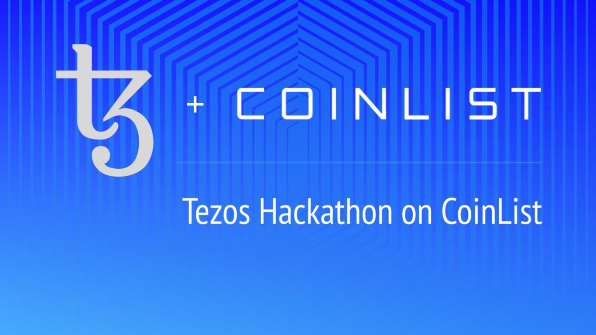 Tezos + CoinList Hackathon Logo